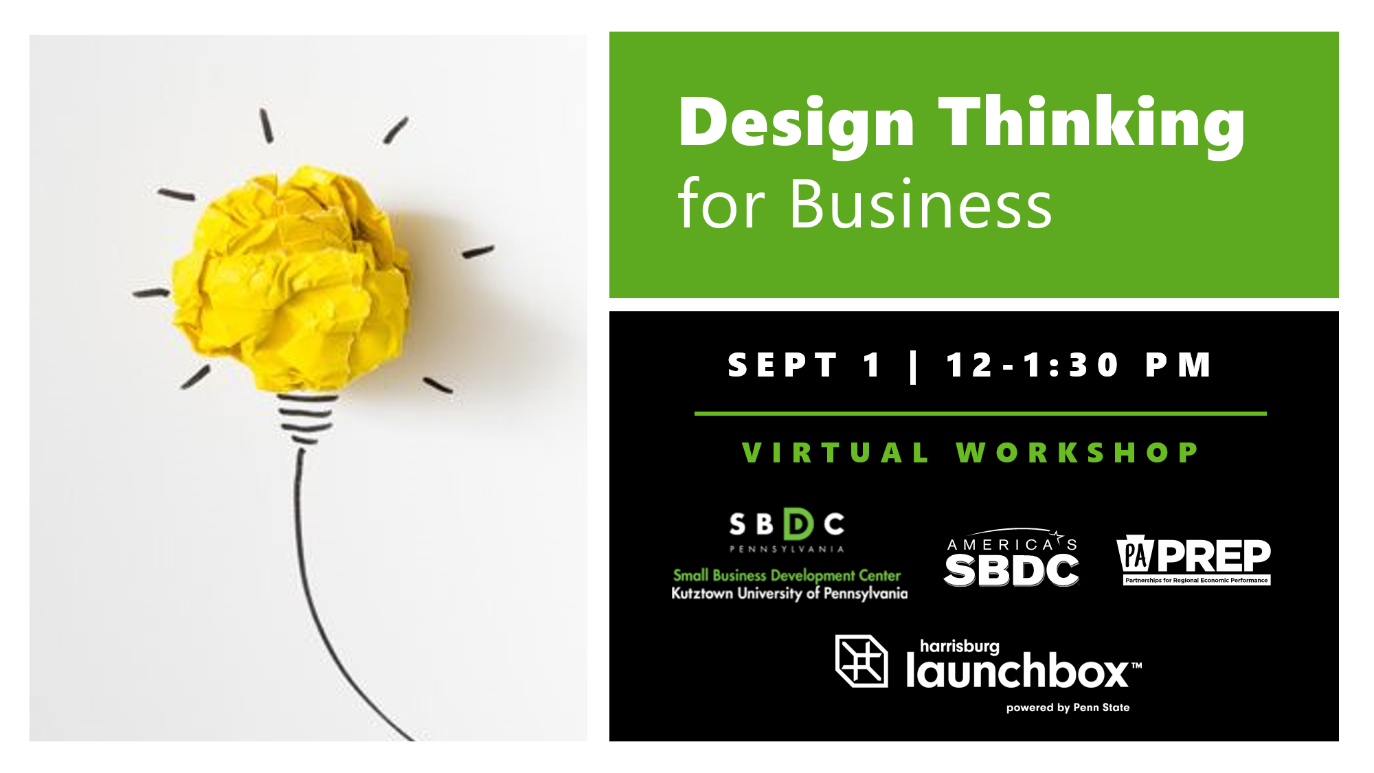 Pa Business One Stop Shop Design Thinking For Business Virtual Workshop
