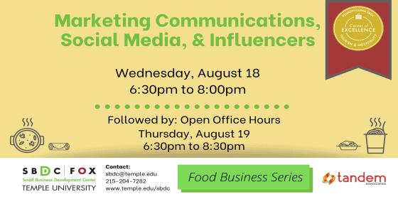 Marketing Communications, Social Media, Influencers