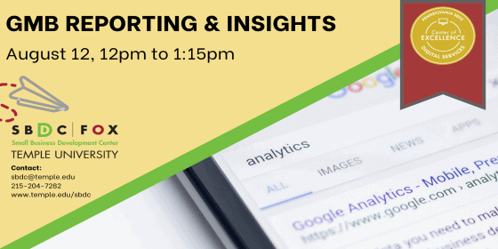 Google My Business Reporting and Insights - August 12