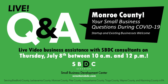 Live Q&A For Monroe County Business Owners and Entrepreneurs