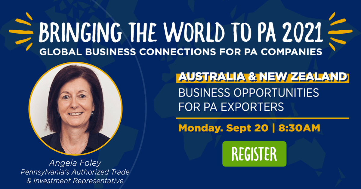 Australia & New Zealand: Business Opportunities for PA Exporters