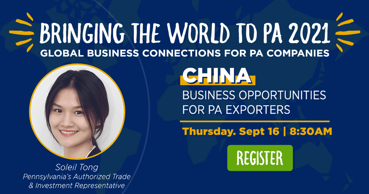 China: Business Opportunities for PA Exporters