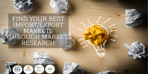 Find your best Import/Export markets through Market Research