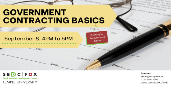 Pivoting to Procurement: Government Contract Types