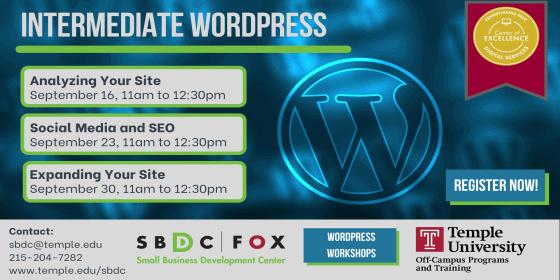 Intermediate WordPress: Social Media & SEO