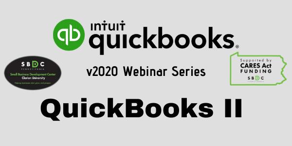 QuickBooks 2020 Level II (Desktop)